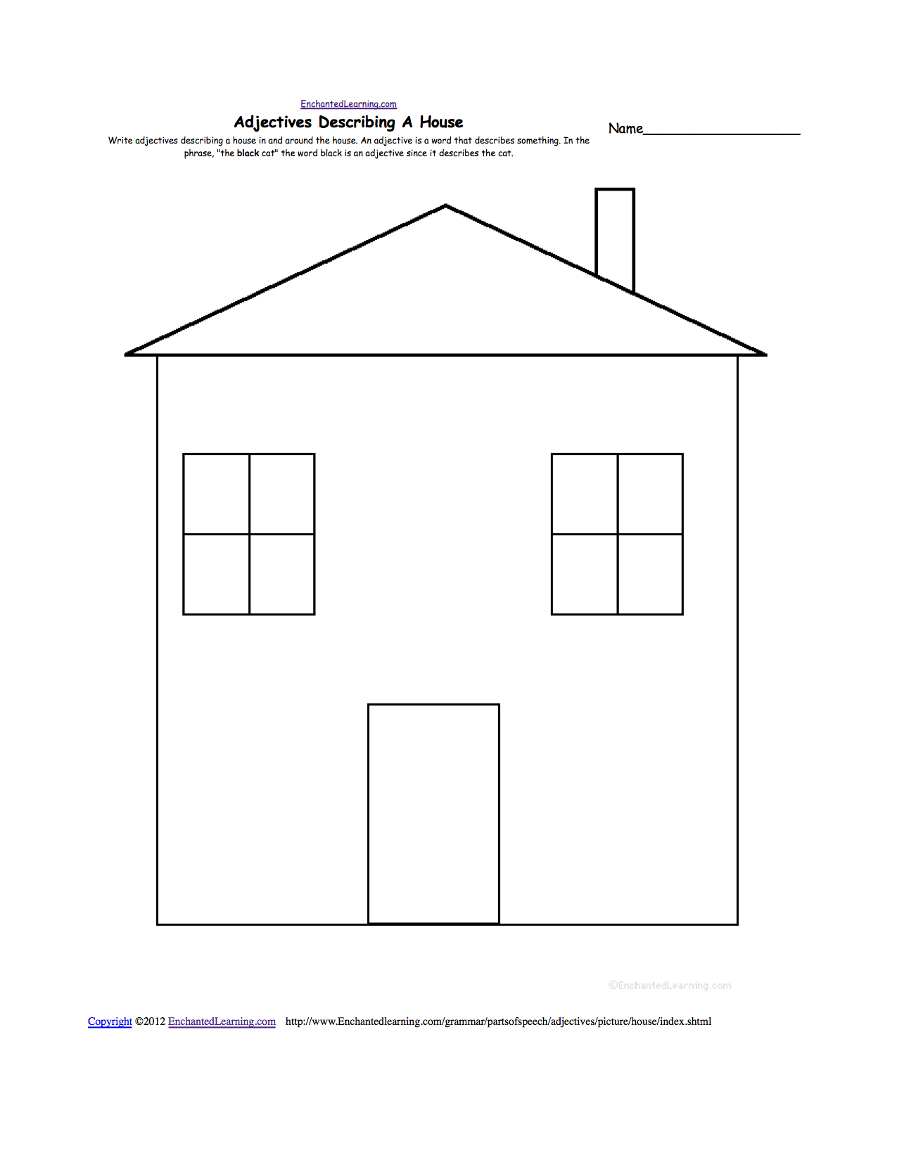 parts of the house worksheets for kindergarten_23352