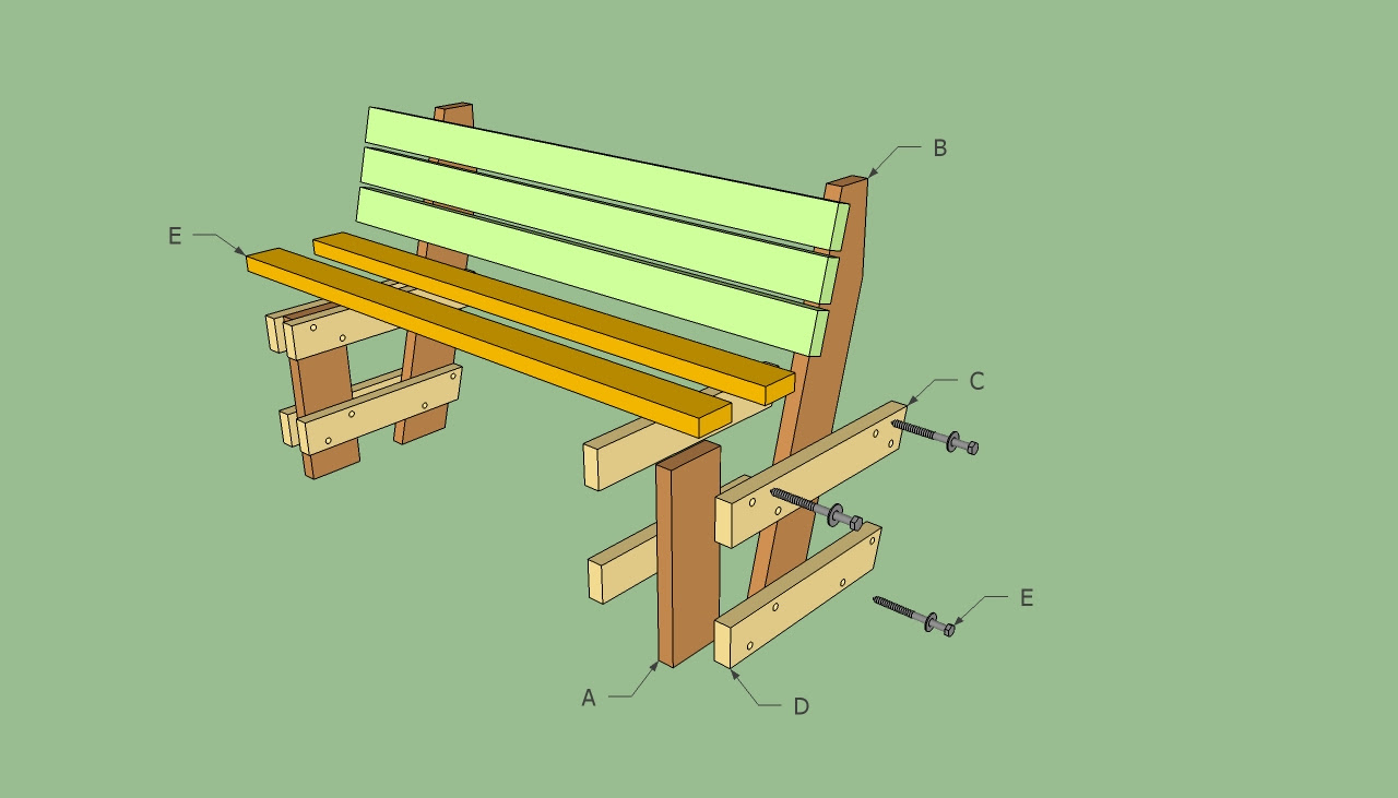 Here Simple Wooden Garden Bench Plans