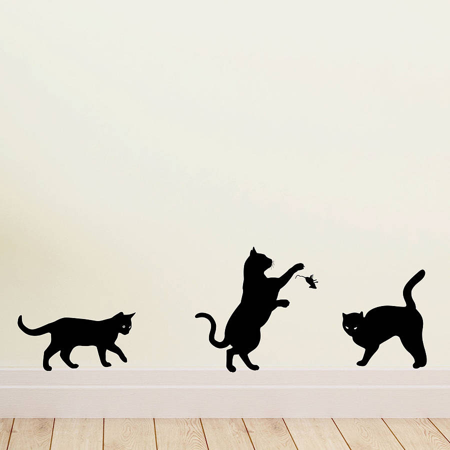 cat wall art stickers by wall art quotes & designs by ...