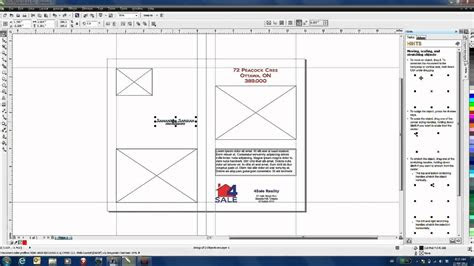 creating  marketing brochure template  coreldraw