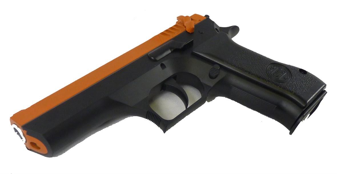 Two Tone Kwc Baby Desert Eagle Co2 Airsoft Pistol Orange Actionhobbies Co Uk