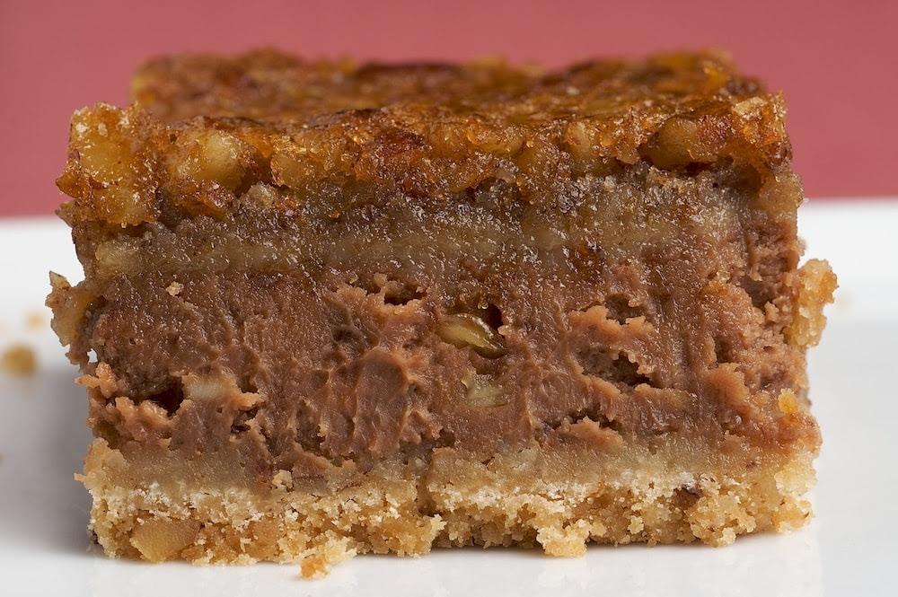 Chocolate Pecan Cheesecake Bars - Bake or Break