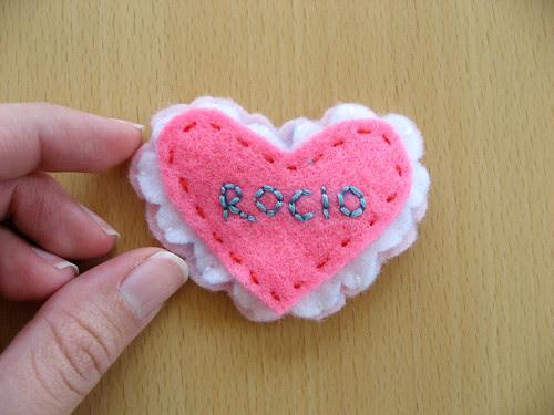 little Valentine pin