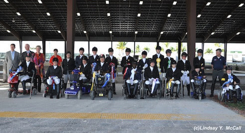 Riders at the 2014 CPEDI at the Adequan Global Dressage Festival. Photo by Lindsay Y. McCall
