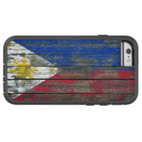 Filipino Flag on Rough Wood Boards Effect Tough Xtreme iPhone 6 Case