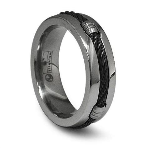 103 best images about Mens Titanium Rings on Pinterest