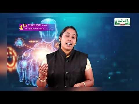 4th English A World With Robot The Trick Robot Unit 1 Part 2 Kalvi TV