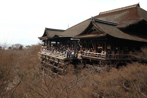 The famous Kiyomizu temple stage