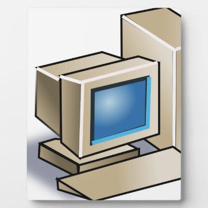 Retro Computer Plaque