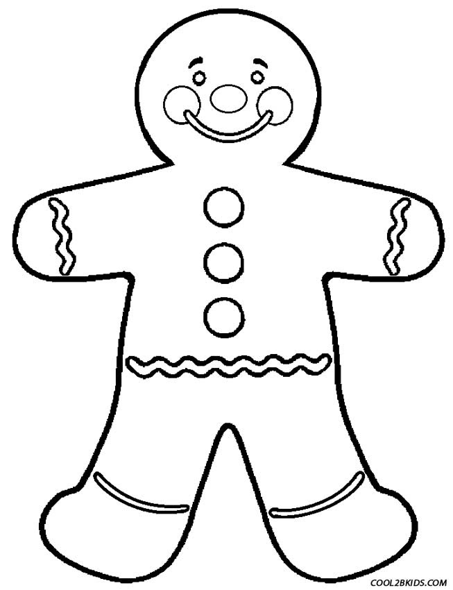 Pictures Of Gingerbread Men - Printable Gingerbread Man Coloring ... | 850x653