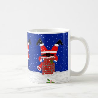 Santa in the Chimney on Coffee/Tea Mug
