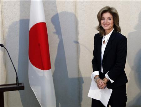 Newly appointed U.S. ambassador to Japan Caroline Kennedy smiles before she gives a statement upon her arrival in Japan at Narita International Airport in Narita, suburban Tokyo November 15, 2013. REUTERS-Koji Sasahara-Pool