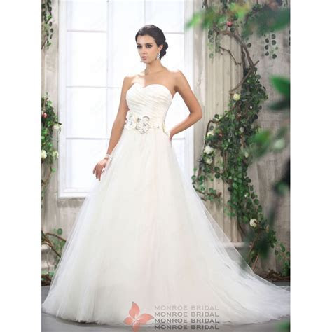 Monica   Sweetheart Tulle Ballgown Wedding Dress with
