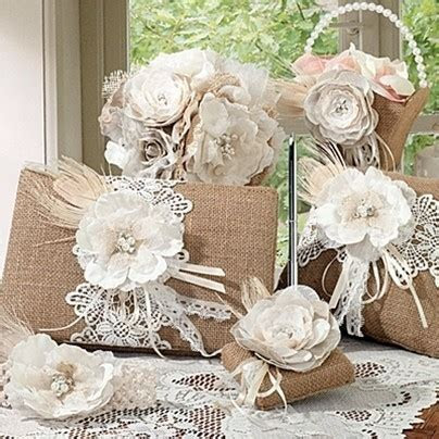 Lillian Rose Burlap and Lace Collection Wedding
