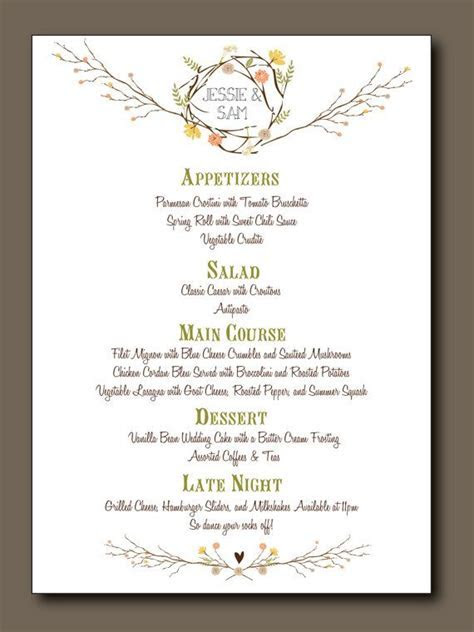 Rush Fee for Lupita   Let's Party!   Summer wedding menu