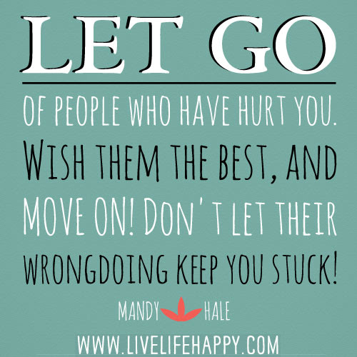 Let Go Of People Live Life Happy