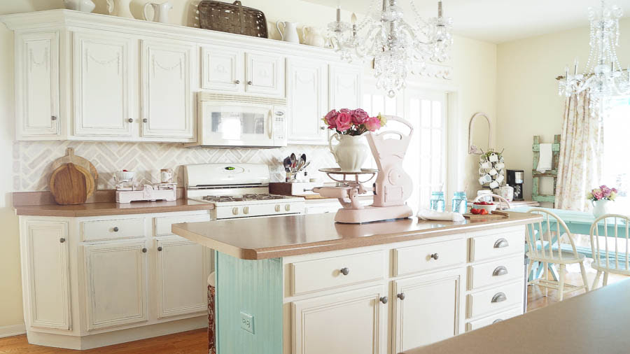 Chalk Painted Kitchen Cabinets Never Again! - White Lace ...