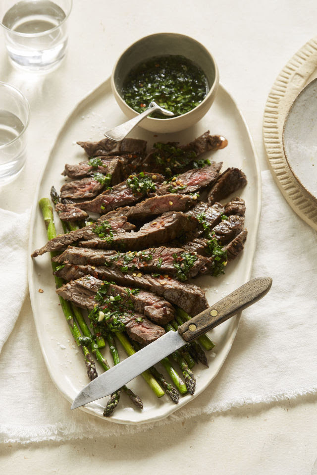 Cilantro-Lime Chimichurri Grilled Steak Vertical