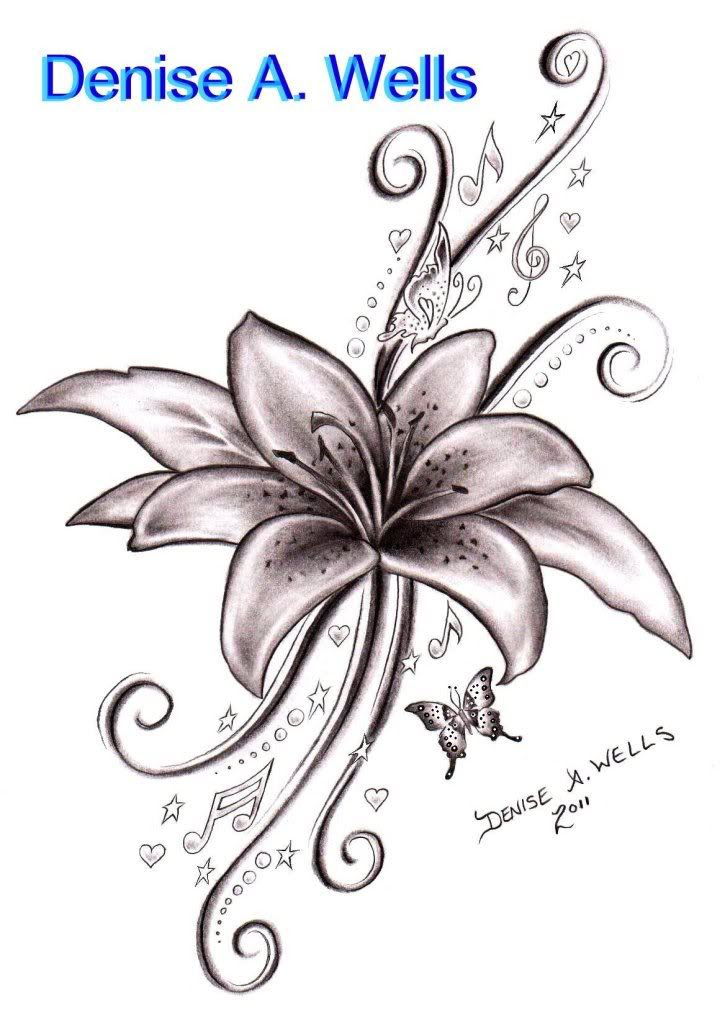 Tiger Lily Flower Drawing At Getdrawingscom Free For Personal Use
