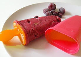 home-made popsicle in non-BPA plastic