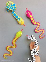 # DIY imprimir títeres dedo de la serpiente