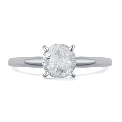 1 Carat T.W. Round Diamond Solitaire 10kt White Gold Ring