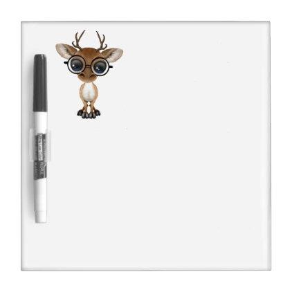 Nerdy Baby Deer Wearing Glasses Dry-Erase Board