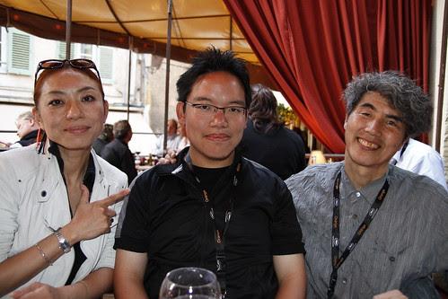 With Kobayashi-sensei and Ando-sensei