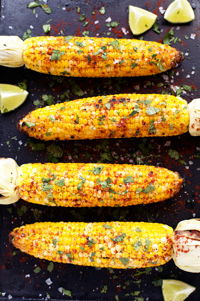 Grilled Cilantro, Lime, and Smoked Paprika Corn on the Cob