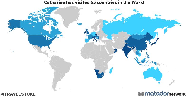 Catharine's Travel Map