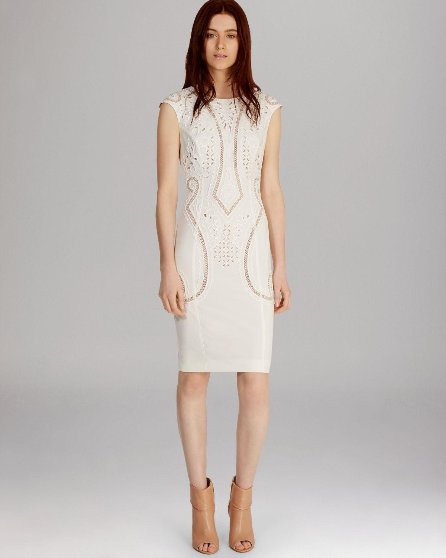 Karen millen embroidered bodycon dress
