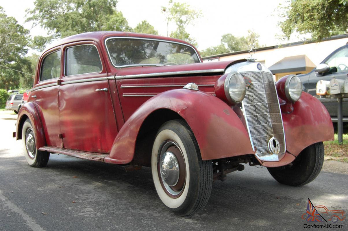 1950 Mercedes Benz 170S RUNS! Very Original and Complete ...