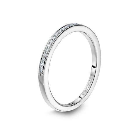 14kt White Gold (H/SI) Ladies Thin Diamond Wedding Band