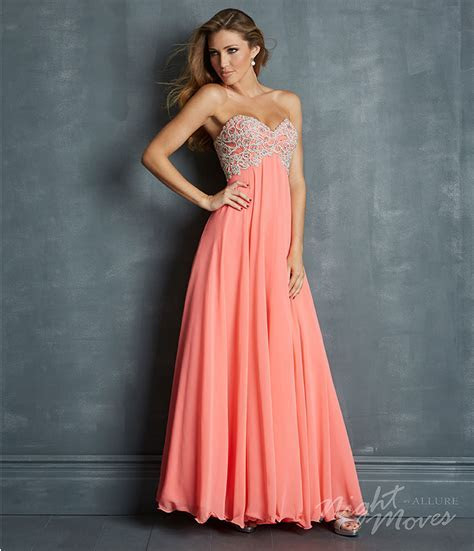Mermaid Strapless Embroider Coral Prom Outfits ? Designers