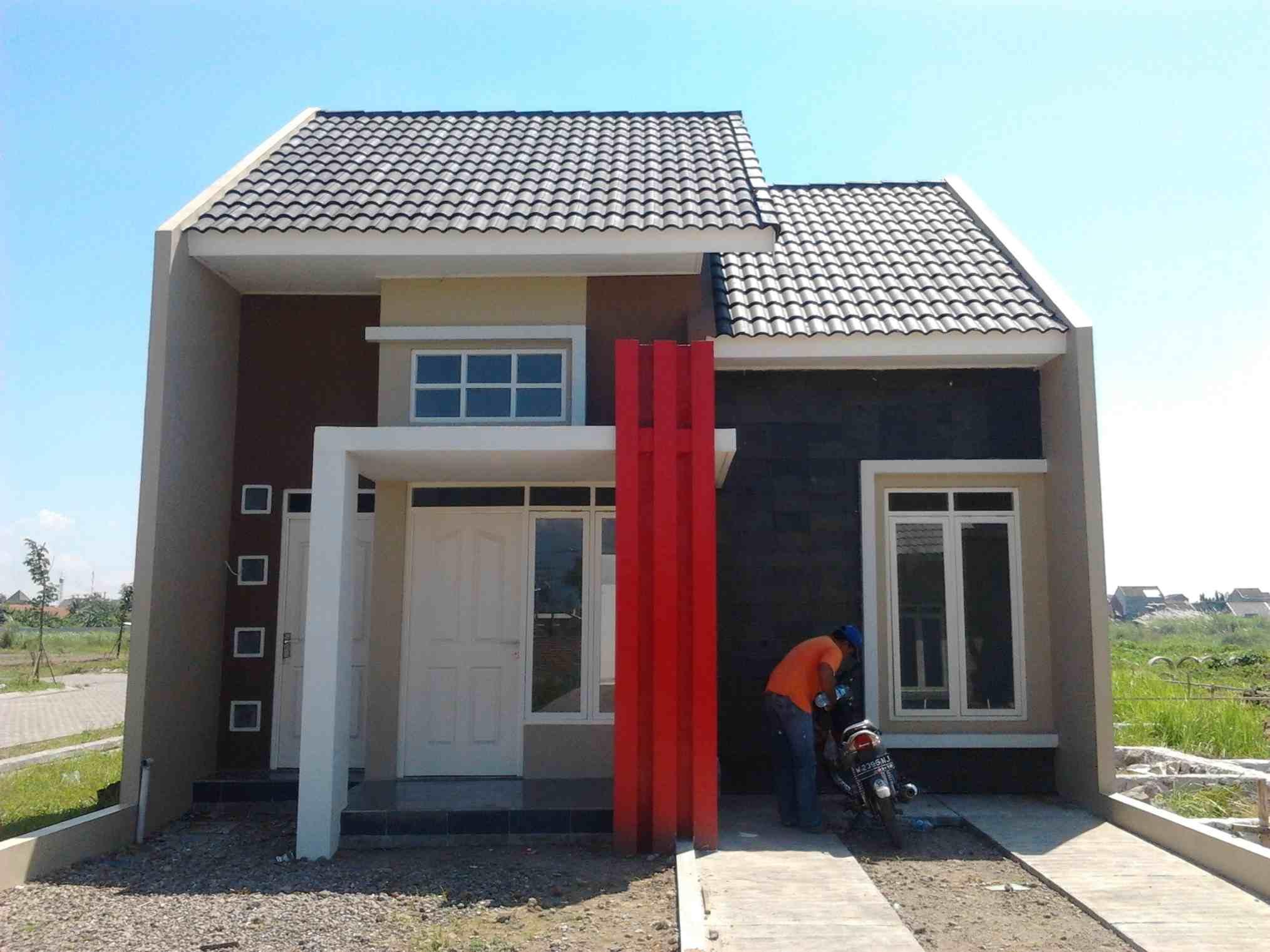 Tampak Depan Rumah Minimalis 1 Lantai Type 36 Desain Rumah Minimalis