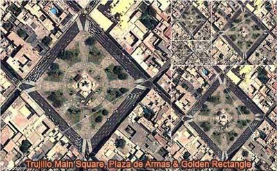 Geometry in the Real World: Trujillo Main Square, Plaza de Armas, Peru, Golden Rectangle, HTML5 Animation for iPad.