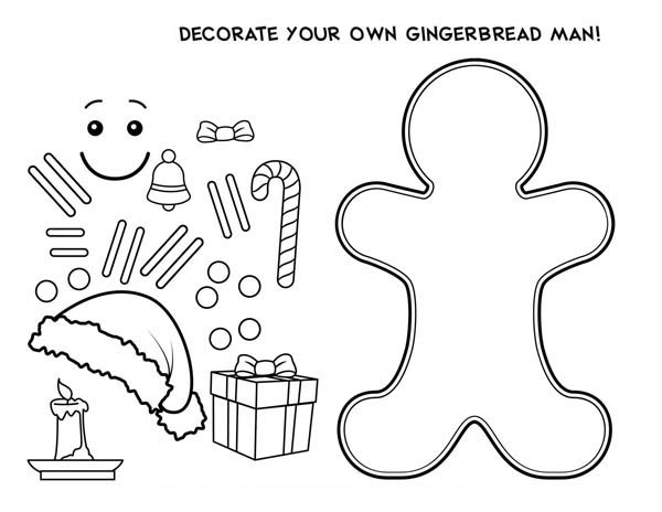 Gingerbread House Christmas Coloring Pages For Kids Drawing With Crayons