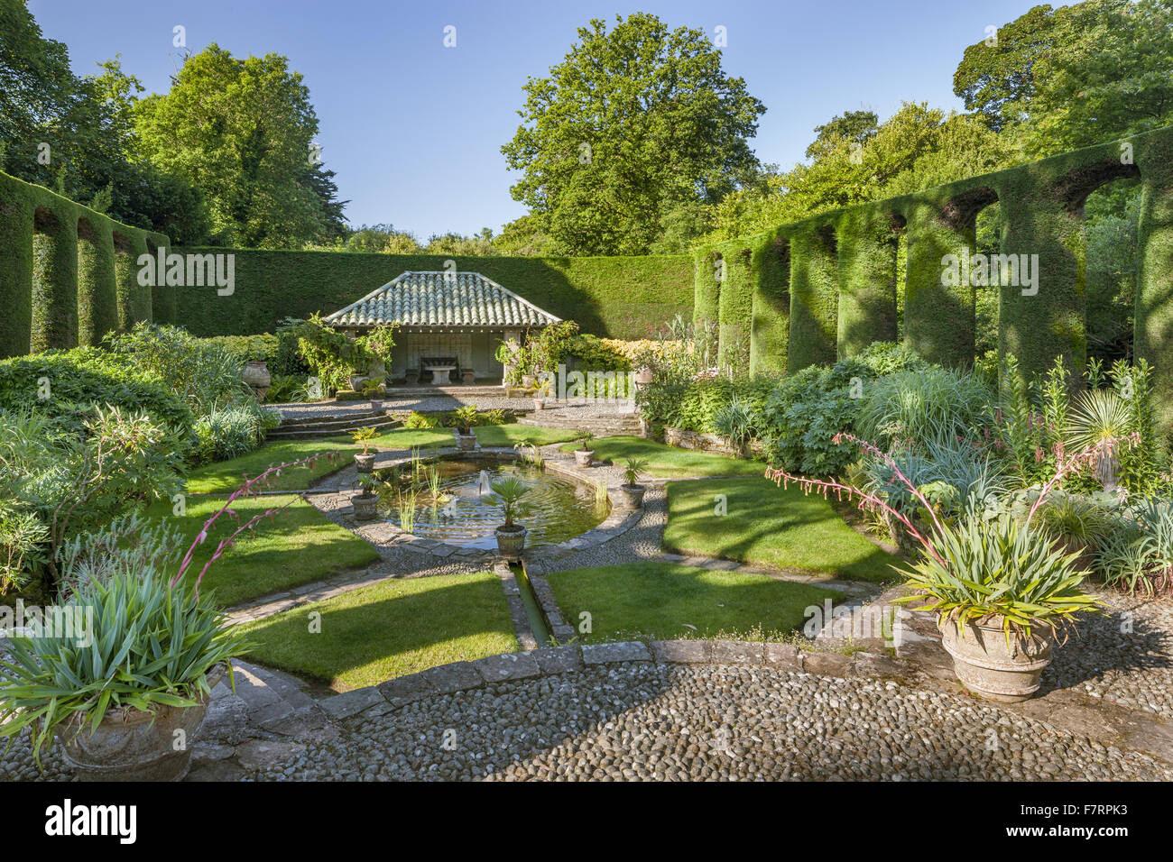 the spanish garden at mount stewart county down mount stewart has F7RPK3
