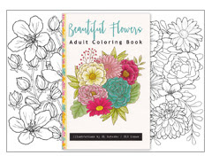Beautiful Flowers Adult Coloring Book