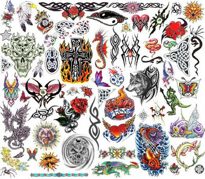 2006qm Bullseye 2006 Monster Collection Tattoo Flash Set.