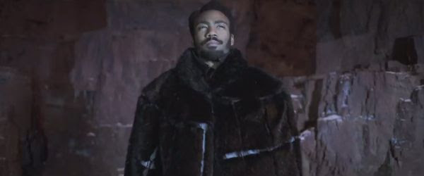 Donald Glover plays a young Lando Calrissian in SOLO: A STAR WARS STORY.
