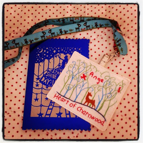 @fatquarterly My name tag has arrived, its gorgeous @indiannadreams thank you so much!! :-)
