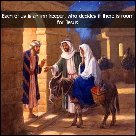 CHRISTMAS, CHRISTMAS QUOTE, EACH OF US US AN INN KEEPER