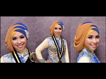 VIDEO : cara memakai jilbab pashmina ke pesta wisuda simple glamour - jilbab. ...