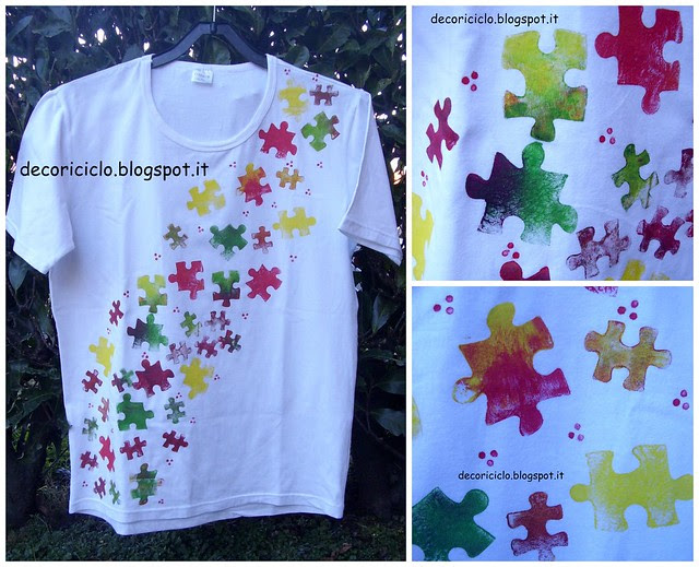 Collage T-shirt stampini puzzle