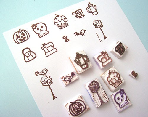 At home with crab apple designs carving rubber stamps and