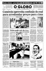 02 de Julho de 1994, Primeira Página, página 1