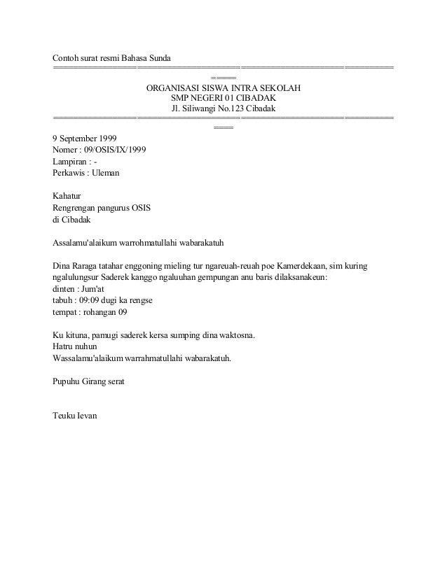 contoh surat resmi dalam bahasa jerman surat 0