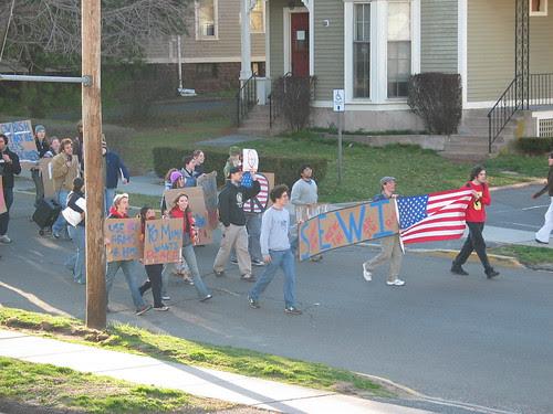 Iraq war protest march