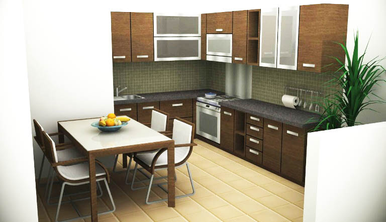 Desain Dapur Dan Ruang Makan Terbuka 8 Desain Rumah Minimalis